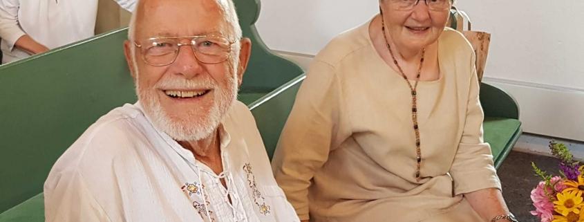 Frank Taube mit seiner Ehefrau Gisela
